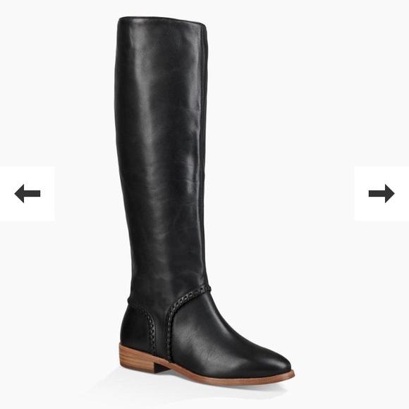 5d6c8d6af94 Black UGG authentic riding boots size 8 NWT